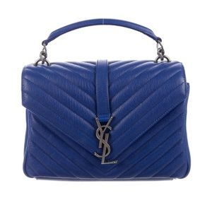 YSL Blue College Bag